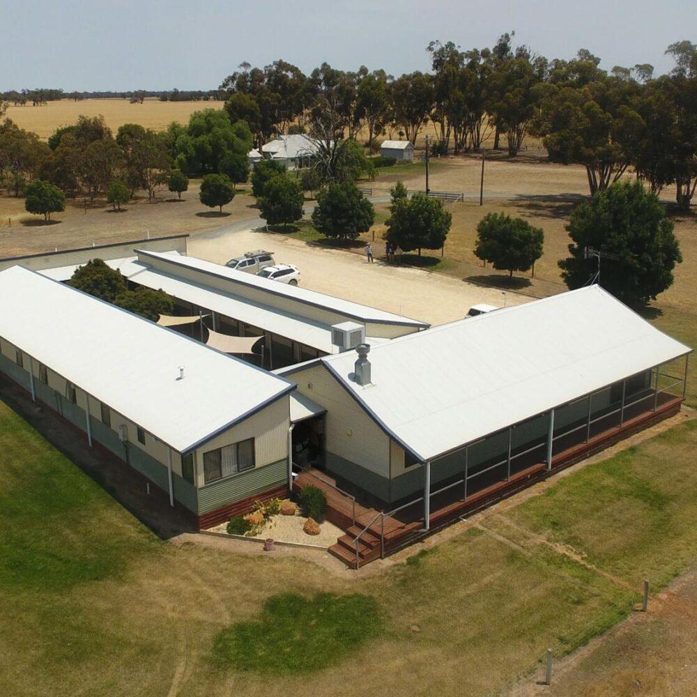 Hawkins Booroopki Farms - Langley Lodge Aerial